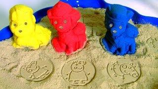 getlinkyoutube.com-Patrulha Canina Areia Kinetica Aventura na Praia com Chase Marshall ~ Paw Patrol Kinetic Sand Beach