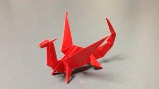 getlinkyoutube.com-折り紙 立体 ドラゴン 折り方 作り方 How to make an origami dragon