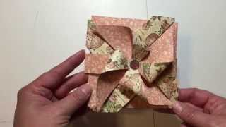getlinkyoutube.com-Pinwheel Card with Tutorial using Envelope Punch Board  and My Sequin Storage