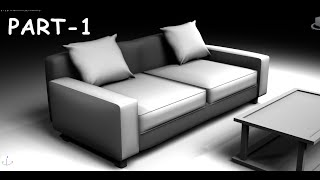 getlinkyoutube.com-Modeling simple sofa 3DS MAX 2015 tutorial