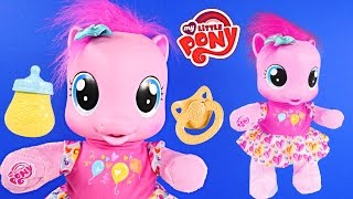getlinkyoutube.com-Pinkie Pie Learning To Walk My Little Pony So Soft Toddler Baby Really Speaks Juguetes para Bebés