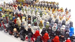My LEGO Star Wars 400+ minifigure collection!