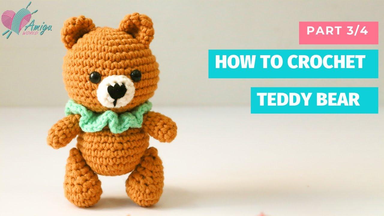 Teddy bear crochet amigurumi pattern by Amigu World (P3)