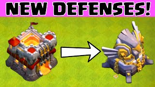 getlinkyoutube.com-Clash of Clans NEW TOWN HALL 11 DEFENSES 4TH X-BOW ★ TH 9 FREEZE SPELL ★ COC TH11 UPDATE SNEAK PEEK