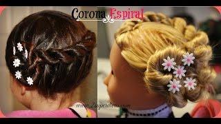 getlinkyoutube.com-Peinado Corona Espiral - Tutorial paso a paso