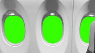getlinkyoutube.com-Airplane Window - green screen