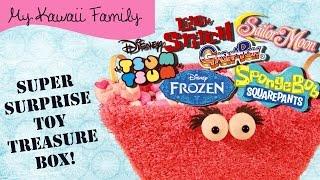 getlinkyoutube.com-Super Surprise TOY Treasure Box! Ep7 Tsum Tsum, Spongebob, Frozen, Gashapon