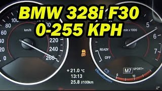 getlinkyoutube.com-★ 2014 BMW 328i F30 Top speed 0-255 Kph (155 mph)