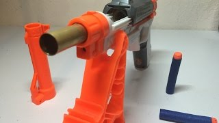 getlinkyoutube.com-Nerf Sharpfire Mod - The Easiest Brass Breech Ever!
