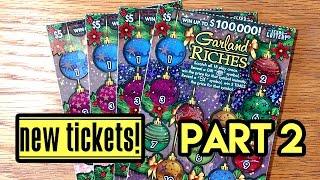 getlinkyoutube.com-New Tickets! 4X $5 Garland Riches - Texas Lottery