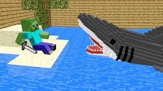 getlinkyoutube.com-Monster School: Killing The Shark - Minecraft Animation Jaws Movie