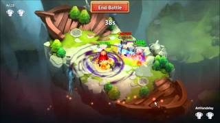 getlinkyoutube.com-Castle Clash - Hero Trials L18 Attempts and Lost Battlefield Fail...040216