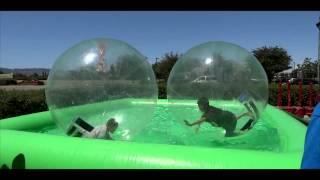 getlinkyoutube.com-Kids Playing Inflatable Ball Swimming Pool - Sony HX20V