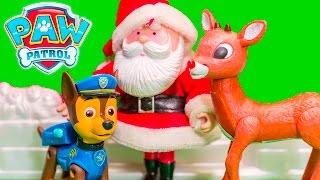PAW PATROL Nickelodeon Santa Clause + Elf on the Shelf Paw Patrol Christmas Toys Video Parody