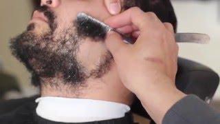 getlinkyoutube.com-straight razor shave | Beard shaved off