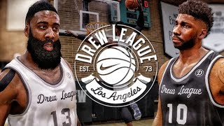 FACING JAMES HARDEN & LEBRON JAMES @ THE DREW LEAGUE! NBA LIVE 18 THE RISE GAMEPLAY!