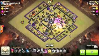 getlinkyoutube.com-Clash of clans TH9 WAR ATTACK 3 STAR GOWIPE SQUARE BASE