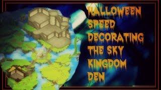getlinkyoutube.com-Animal Jam: Halloween Decorating The Sky Kingdom Den! 2015