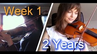 getlinkyoutube.com-Adult beginner violinist - 2 years progress video