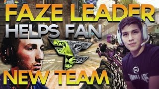 getlinkyoutube.com-FaZe Leader Helps Fan from Bully, New Sniping Team, Shittalking OpTic Gaming - Red Scarce