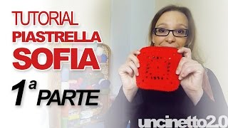 "getlinkyoutube.com-Tutorial uncinetto - Piastrella ""Sofia""- Parte 1 di 3"