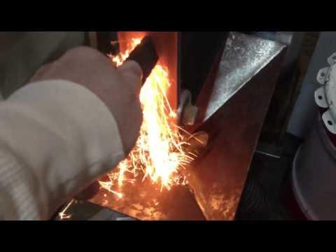 Dust collector for DIY belt grinder