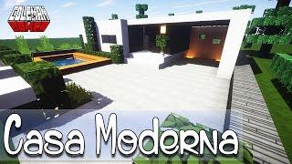 getlinkyoutube.com-Como hacer una Linda Casa Moderna en Minecraft