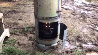 getlinkyoutube.com-Kiwi Waste Oil Burner (DIY Shed heater)
