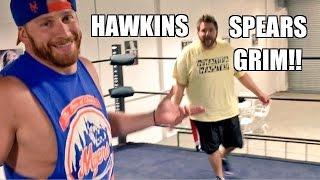 getlinkyoutube.com-CURT HAWKINS SPEARS GRIM In Championship Wrestling Match Action!