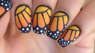 getlinkyoutube.com-Nail Art Tutorial: Monarch Butterfly