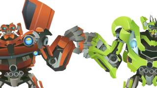 getlinkyoutube.com-TWINS(SKids & Mudflap) Transform - Short Flash Transformers Series