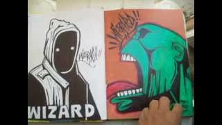 getlinkyoutube.com-Wizards New BlackBook - graffiti characters July 10,2012