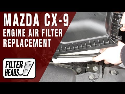 How to Replace Engine Air Filter 2009 Mazda CX-9 V6 3.7L