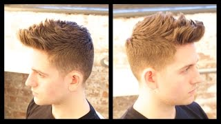getlinkyoutube.com-Men's Haircut Tutorial - Male Model Haircut - TheSalonGuy