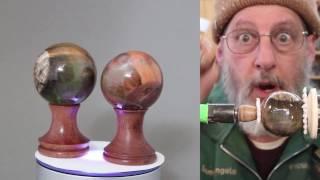 getlinkyoutube.com-Turning a Cast Resin Sphere    Sam Angelo, wyomingwoodturner