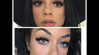 getlinkyoutube.com-SOLOTICA CRYSTAL CONTACTS ON BROWN EYES 2015