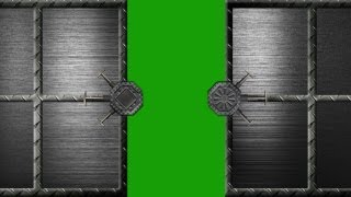 getlinkyoutube.com-security steel door opens and closes - green screen effect