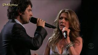 "getlinkyoutube.com-Celine Dion & Josh Groban Live ""The Prayer"" (HD 720p)"