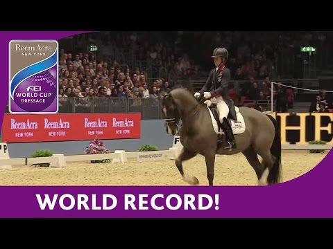 Charlotte Dujardin's World Record Breaking Freestyle test at London Olympia