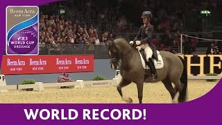 getlinkyoutube.com-Charlotte Dujardin's World Record Breaking Freestyle test at London Olympia