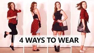 getlinkyoutube.com-How to Style Flannel Plaid Shirt | Autumn and Spring!