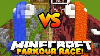 Minecraft PRESTONPLAYZ vs MRWOOFLESS PARKOUR! | Custom Parkour Map