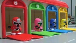 getlinkyoutube.com-Power Rangers Ninja Steel Mini Figure Toys  파워레인저 닌자포스 미니 피규어 장난감