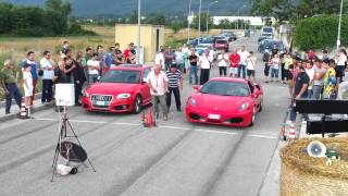getlinkyoutube.com-Audi S3 S-Tronic MTM vs Ferrari F430 F1 - 2° attempt