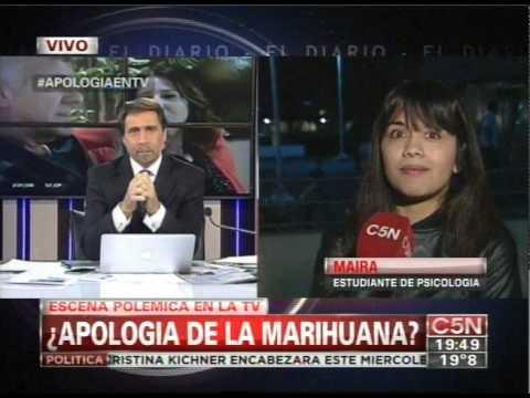 C5N - TELEVISION: APOLOGIA A LA MARIHUANA EN LA NOVELA DE GUAPAS (PARTE 2)