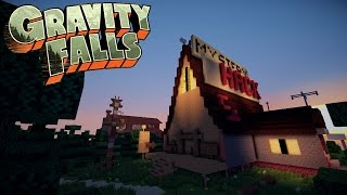 getlinkyoutube.com-Gravity Falls Mystery Shack Minecraft Timelapse!