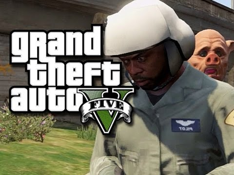 GTA 5 Online Stunts - Follow the Leader! #2 (GTA V Fails and Funny Moments!) KYR SP33DY