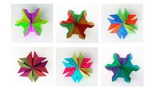 getlinkyoutube.com-Christmas Origami Snowflake :: Estrella de seis puntas