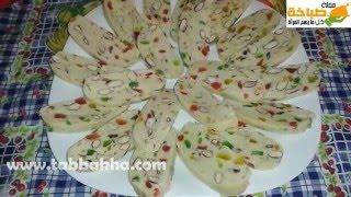 getlinkyoutube.com-فقاص بارد باللوز والفواكه المعسلة بدون طهي Fekkas
