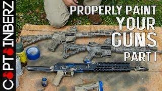 getlinkyoutube.com-Properly Camo Painting a Gun/Rifle (Part I)